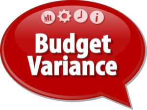Variances budget